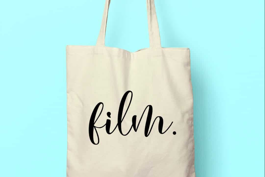 Handwritten Film Photography Tote Bag on Shoot It With Film