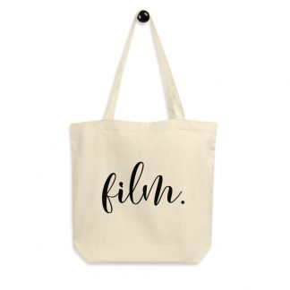 Medium Format and 35mm Film Photography Eco Tote Bag with Handwritten Script