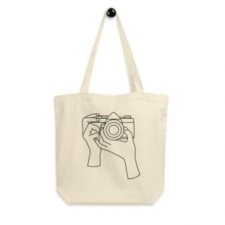 35mm Film Photography Girl Holding Camera Eco Tote Bag