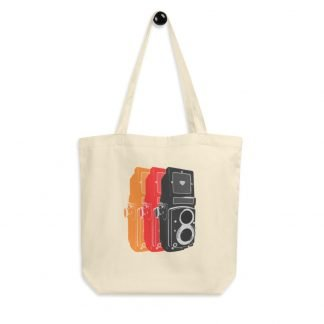 PopArt TLR Vintage Camera - Medium Format and 35mm Film Photography Eco Tote Bag