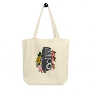 Floral TLR Vintage Camera - Medium Format and 35mm Film Photography Eco Tote Bag