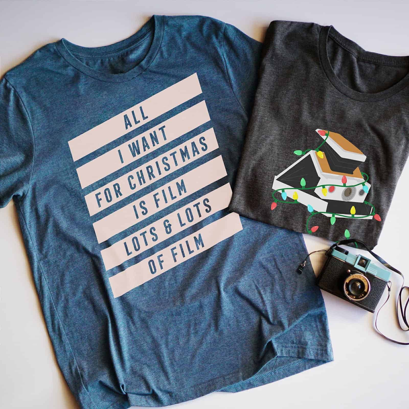 Holiday Film Photography T-Shirts
