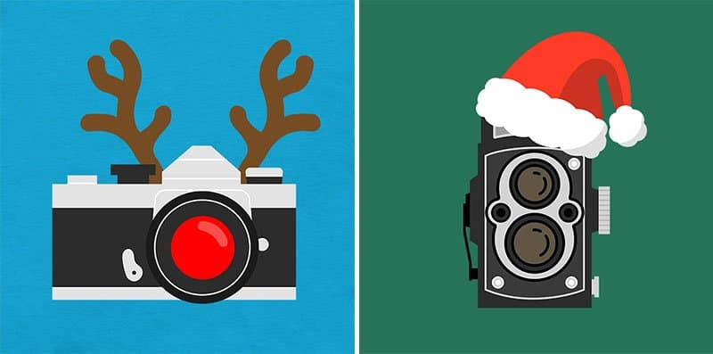 Holiday T-Shirts 35mm Camera and Rolleiflex Camera
