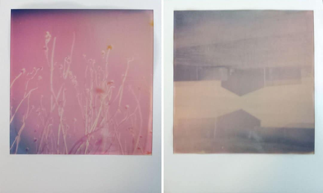 Double exposures shot on Polaroid Originals i-Type color film, flash off, lighten/darken switch set to darken.