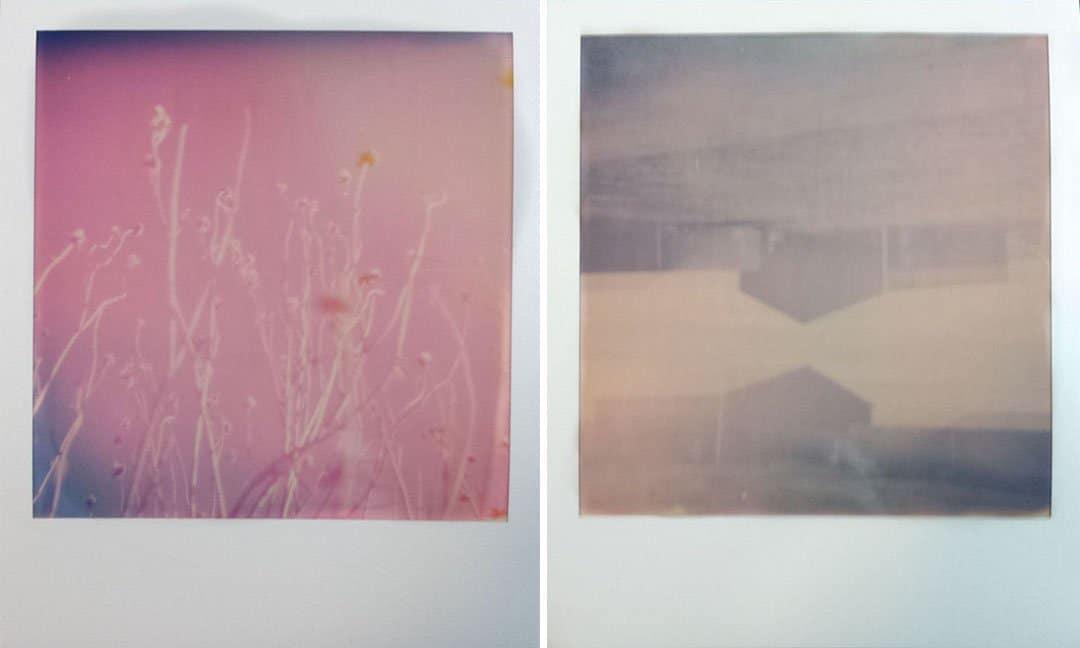 Double exposures shot on Polaroid Originals i-Type color film, flash off, lighten/darken switch set to darken.