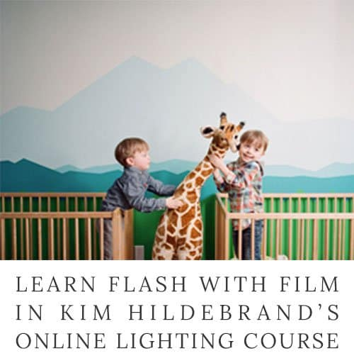 Learn to use flash and artificial lighting with film photography in this online course from Kim Hildebrand