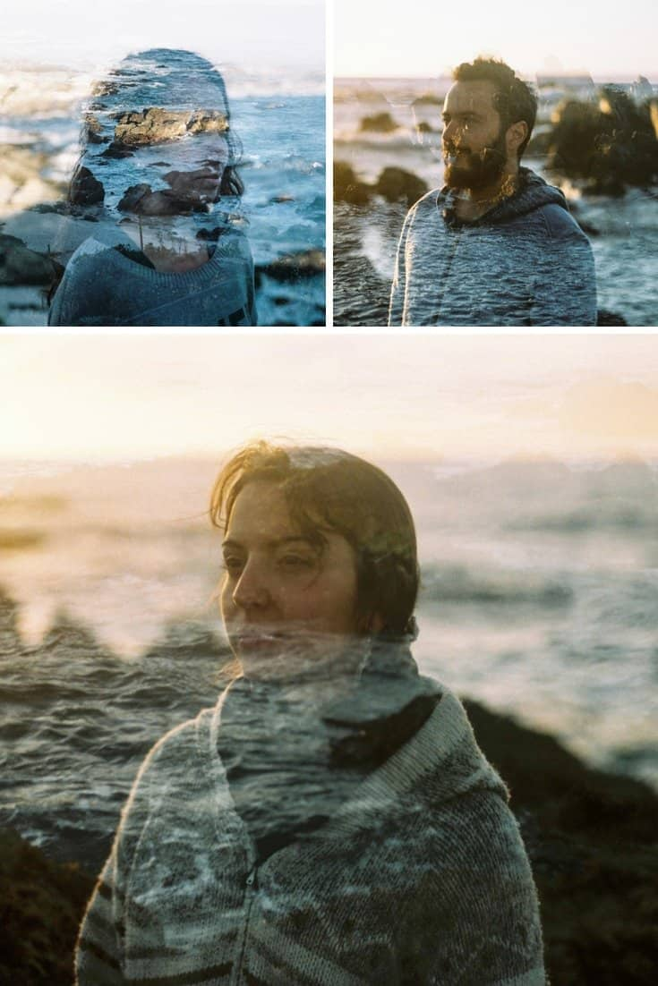 35mm Film Photography Double Exposures on the Coast of Chile by Brooke Fitzwater on Shoot It With Film