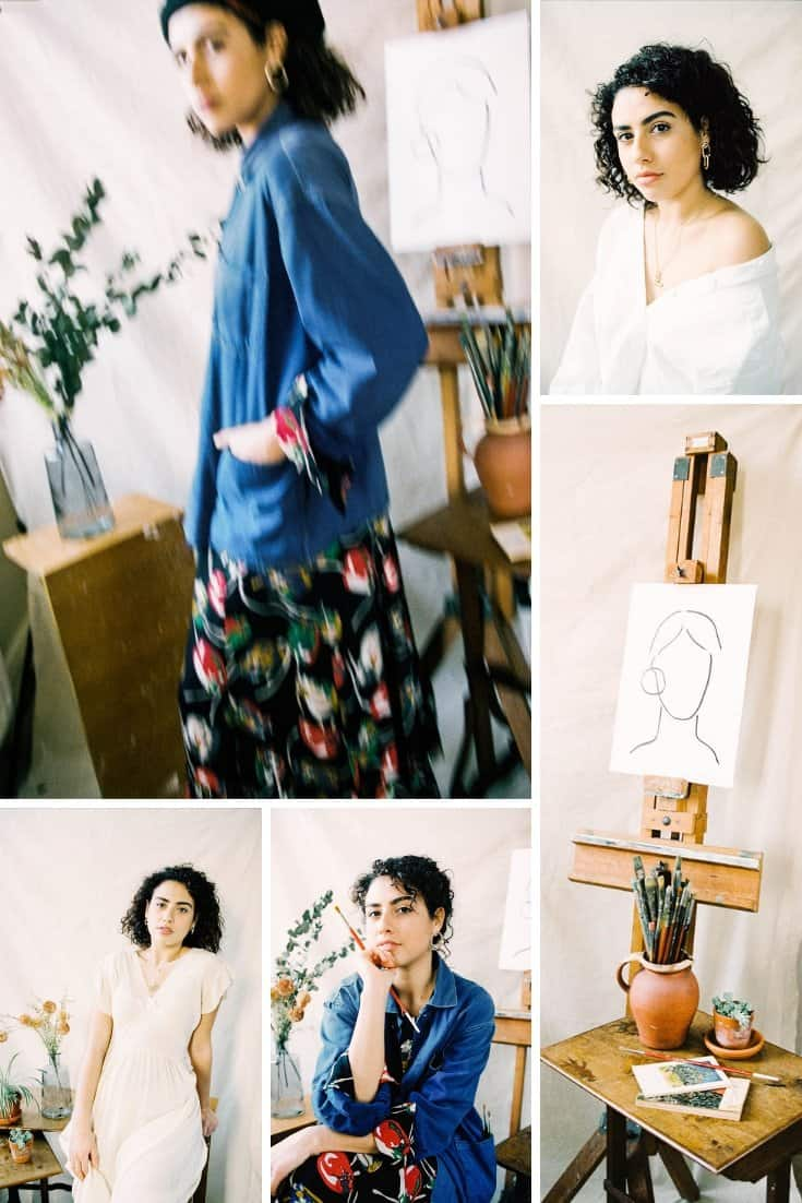Art Studio Portrait Series on 35mm Film by Ellen Richardson on Shoot It With Film