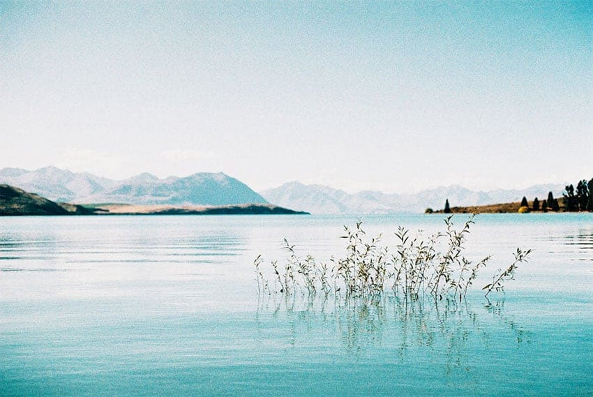 Blue New Zealand Lake - Canon A1 35mm New Zealand Travel Story on Shoot It With Film