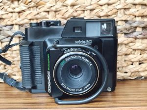 Camera Front View - Fuji GS645S Medium Format Film Camera Review on Shoot It With Film