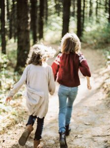3 Tips for Photographing Children on Film by Samantha Stortecky on Shoot It With Film - Kids running through the woods