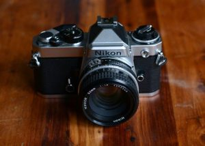 Nikon FE 35mm Film Camera Review on Shoot It With Film - Front View of Camera