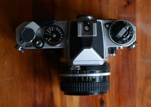 Nikon FE 35mm Film Camera Review on Shoot It With Film - Top View of Camera