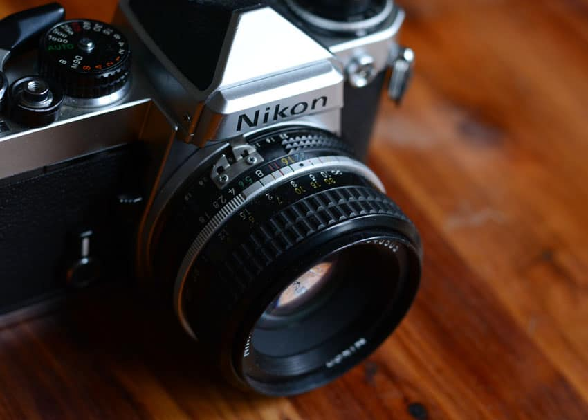 Nikon FE 35mm Film Camera Review on Shoot It With Film - Lens Closeup