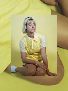 Yellow Pastel Portraits Medium Format Film Photography with the Contax 645 and Kodak Portra Film on Shoot It With Film