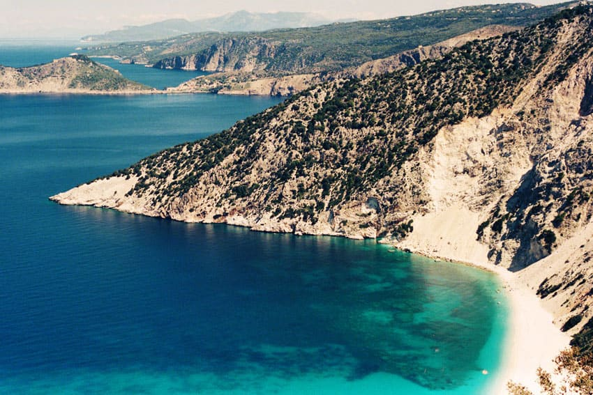 Coastline - Greek Island Travel Series on Expired Velvia 50 Film by Grant Buchanan on Shoot It With Film