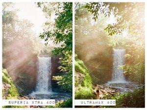 Waterfalls - Fuji Superia vs Kodak Ultramax Film Stock Comparison by Amy Berge on Shoot It With Film