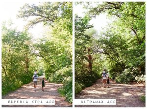 Family Hiking in the Woods - Fuji Superia vs Kodak Ultramax Film Stock Comparison by Amy Berge on Shoot It With Film