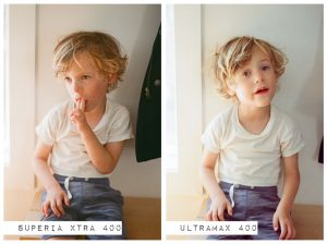 Indoor Portrait of Child - Fuji Superia vs Kodak Ultramax Film Stock Comparison by Amy Berge on Shoot It With Film