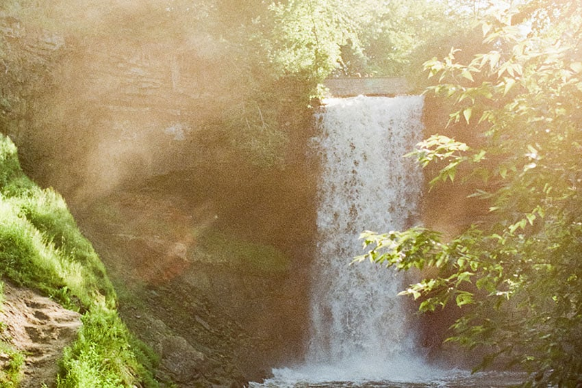 Waterfall - Fuji Superia vs Kodak Ultramax Film Stock Comparison by Amy Berge on Shoot It With Film
