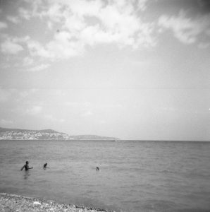 Black and white image of the beach - 5 Film Cameras Under 50 Dollars by Jennifer Stamps on Shoot It With Film