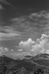 Black and white view of the mountains - French Catalonia Travel Story by Michael Raven on Shoot It With Film