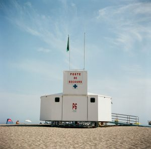 Beach lifeguard station - French Catalonia Travel Story by Michael Raven on Shoot It With Film