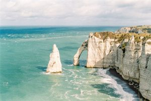 Landscape of the cliffs of France on 35mm film - Cliffs of Etreat France Travel Story by Marissa Wu on Shoot It With Film