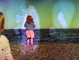 35mm Film Photography Soaked in Film Soup of a Girl on the Shore of a Beach - Interview with Amy Berge of Film Lab 135 on Shoot It With Film