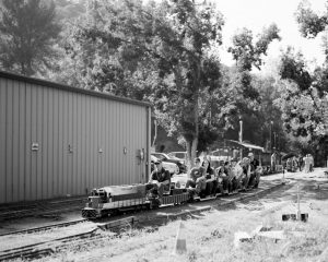 Black and white miniature train on Ilford Delta 100 film - Guide to Ilford BW Film by David Rose on Shoot It With Film