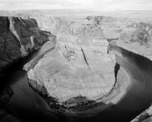 Black and white of Horseshoe Bend on Ilford Pan F film - Guide to Ilford BW Film by David Rose on Shoot It With Film