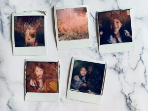 Five Polaroid images on a counter - Polaroid Film Soup Experiment by Jennifer Stamps on Shoot It With Film