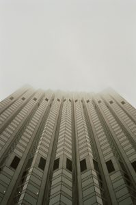 Skyscraper disappearing into fog on 35mm color film - San Francisco Photo Essay by Nick Hogan on Shoot It With Film