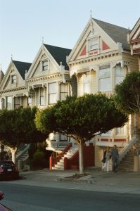 Row of houses on 35mm color film - San Francisco Photo Essay by Nick Hogan on Shoot It With Film