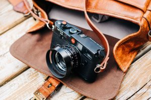 Leica camera and camera bag - 10 Awesome Gifts for Film Photographers on Shoot It With Film