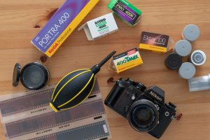 Film camera and rolls of film - 10 Awesome Gifts for Film Photographers on Shoot It With Film