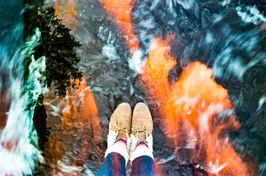 35mm film photography double exposure of a woman's shoes- 5 Creative Film Photography Projects to Try When You're Uninspired by Amy Berge on Shoot It With Film