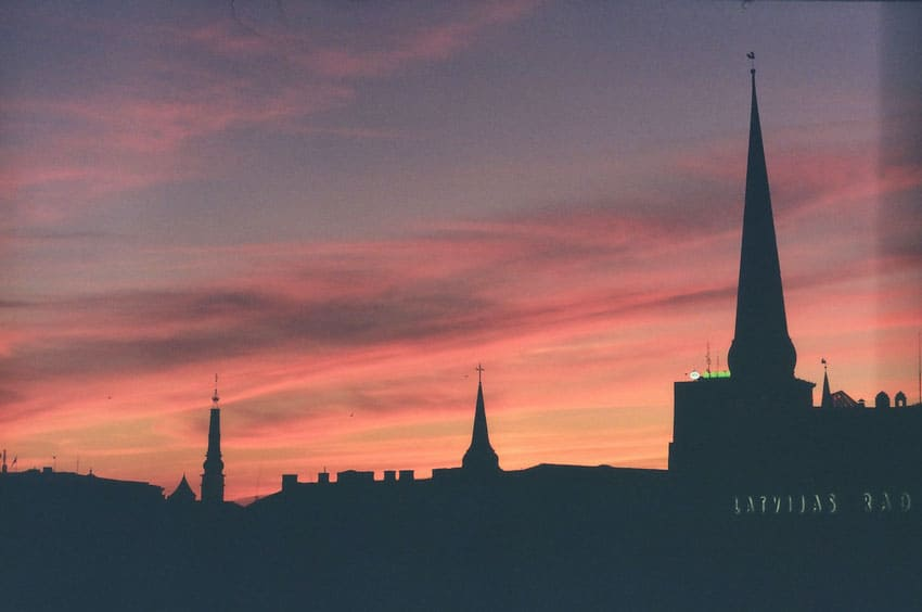 Cityscape at sunset on 35mm film - Eastern Europe Travel Story by Taylor Stoker on Shoot It With Film