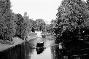 Canal on 35mm black and white film - Eastern Europe Travel Story by Taylor Stoker on Shoot It With Film