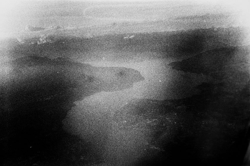 Abstract black and white film photography image of a landscape - Ajar Abstract BW Series by Mickaël André on Shoot It With Film