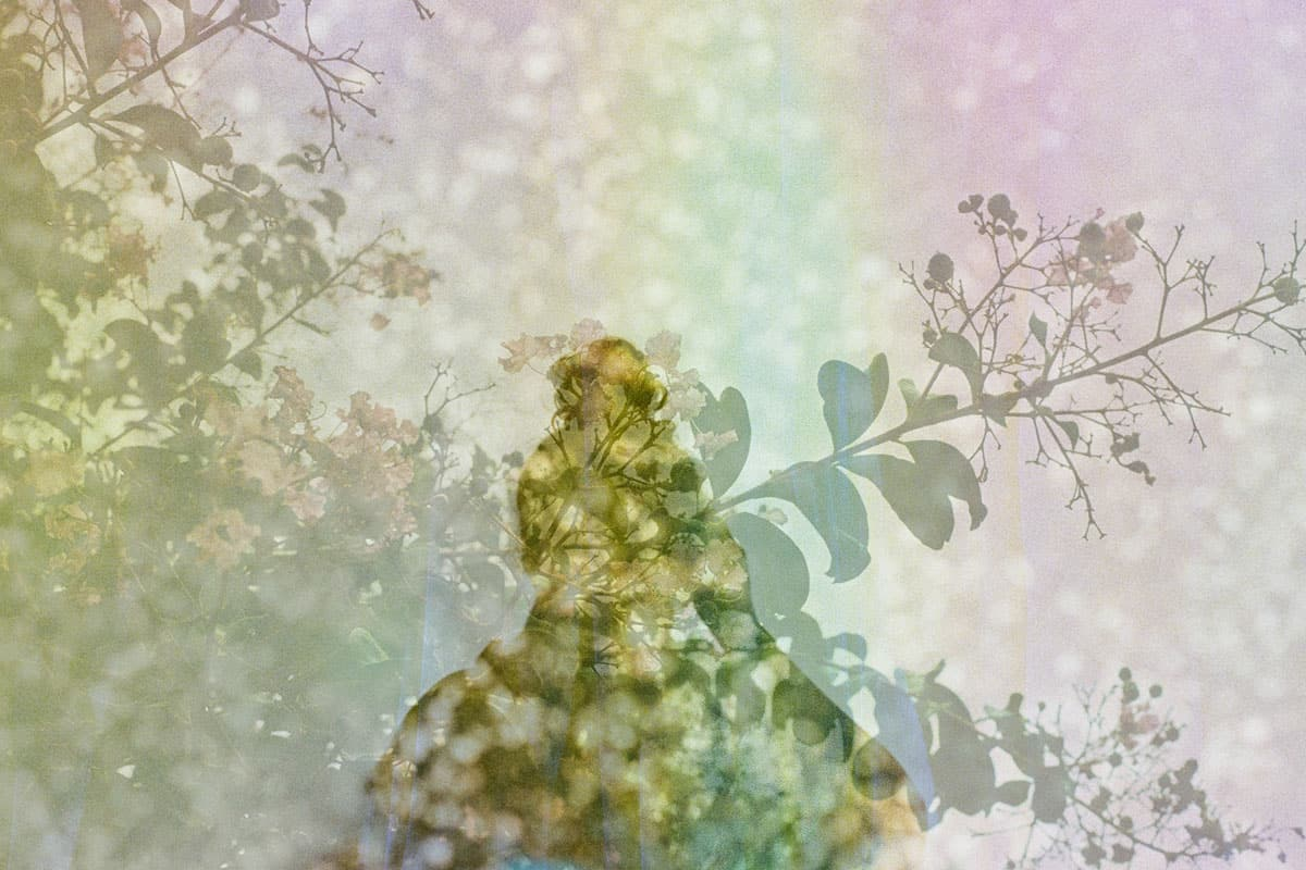 Double exposure with a shadow and leaves - Film Photography Double Exposures by Jennifer Stamps on Shoot It With Film