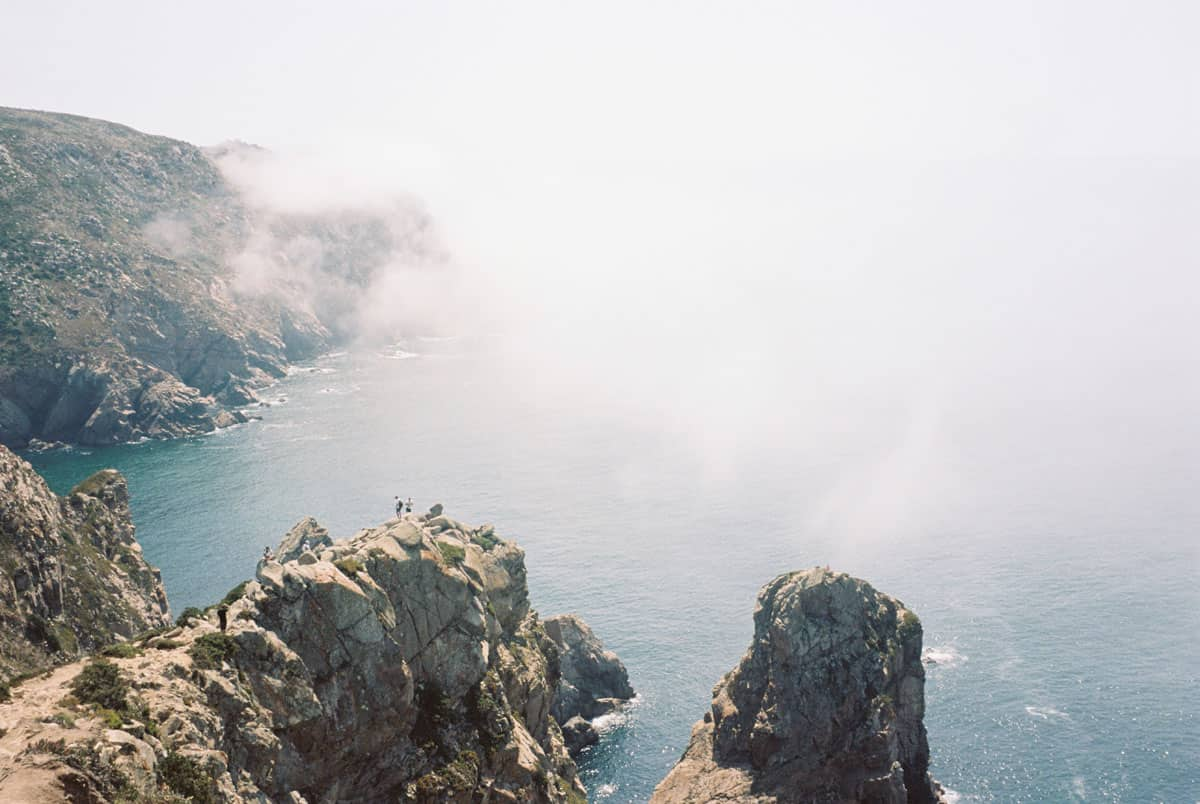 35mm film image of the foggy cliffs in Portugal - Portugal Travel Story by Maria Vorona on Shoot It With Film