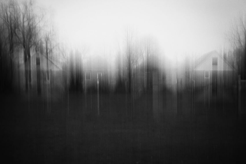 Blurry b&w medium format film image of a forest - Using Intentional Camera Movement to Enhance Your Film Photography by James Baturin on Shoot It With Film