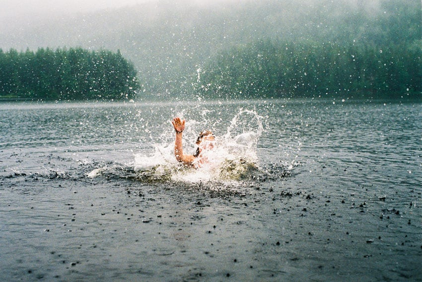 35mm film photography portrait of a woman swimming - Dollhouse Portrait Series by Siri-Anna Roswall Mattsson Shoot It With Film