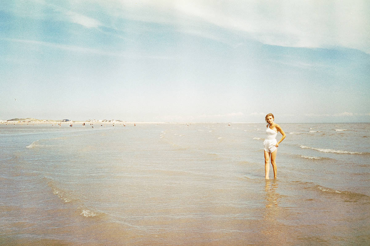 35mm film portrait of a woman at the beach - Portrait Series by Marcin Wolinski on Shoot It With Film