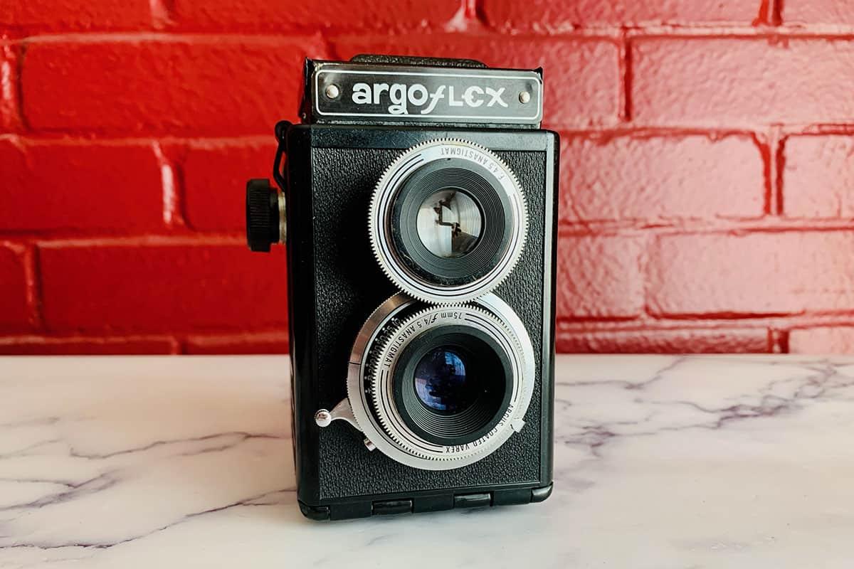 The Argus Argoflex E medium format TLR film camera
