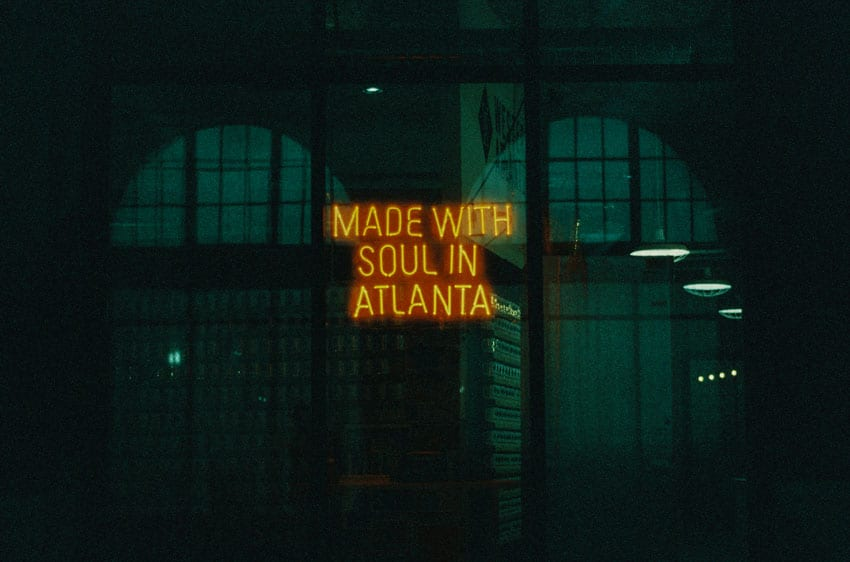 35mm film image of a neon sign - Neon Lights on CineStill Film by Sarah Proctor on Shoot It With Film