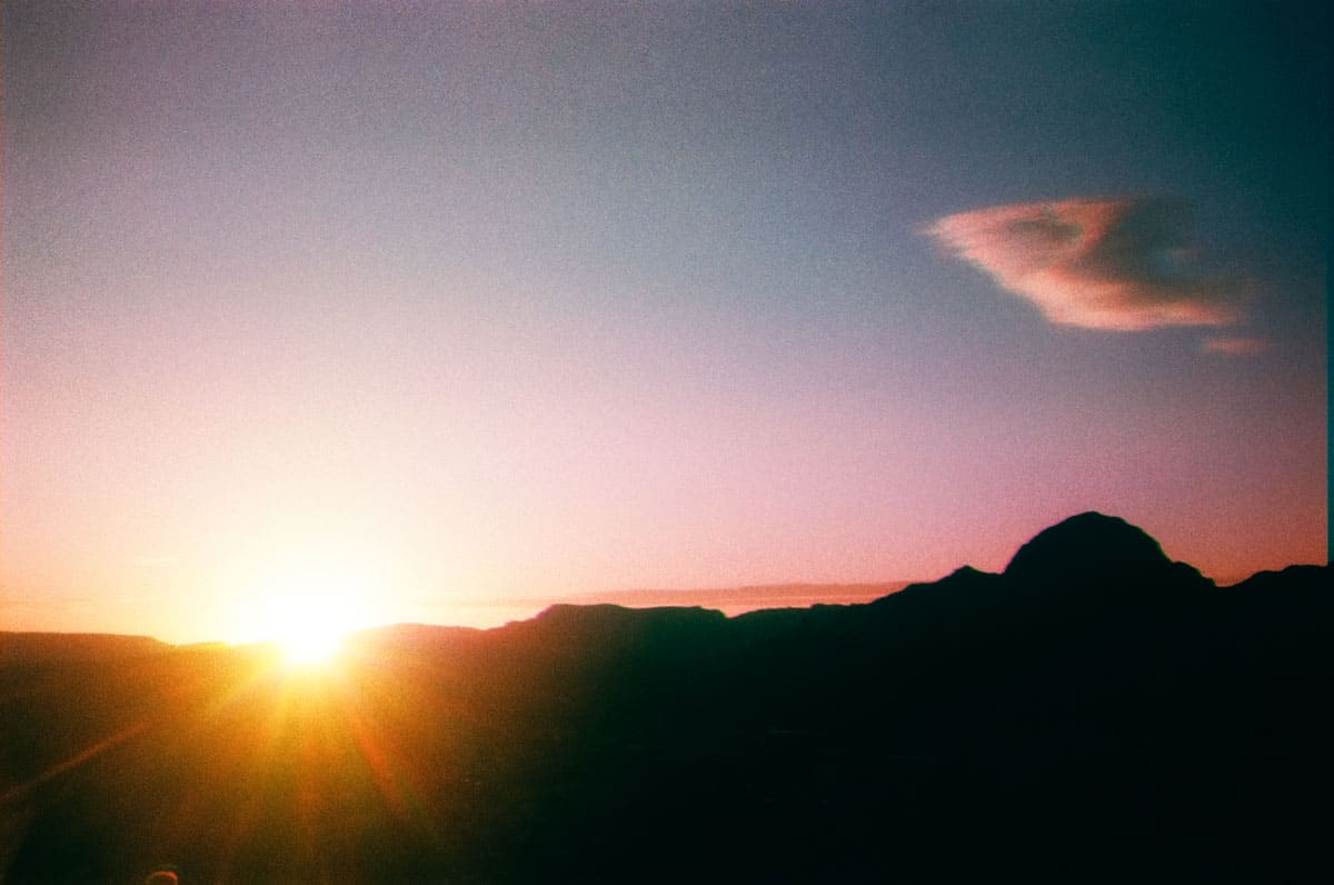 35mm film image of a sunset - How to Make Trichromatic Images on Film by Amy Berge on Shoot It With Film