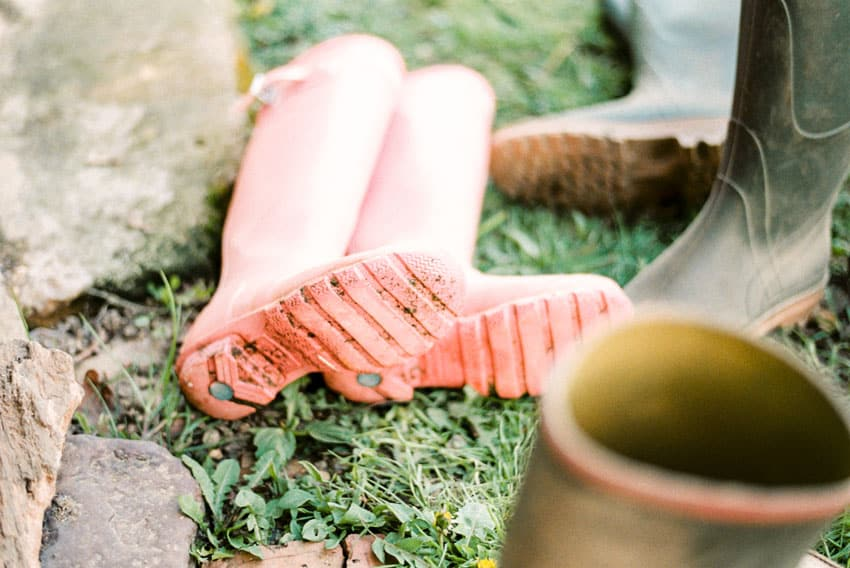 35mm film image of boots - The French Countryside on Film by Marissa Wu on Shoot It With Film